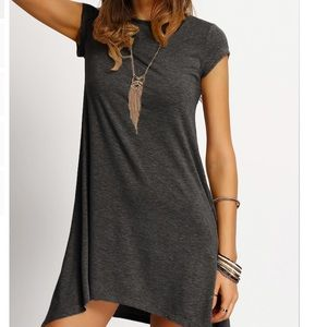 Dresses & Skirts - JUST IN!⭐️💕Gray Asymmetrical Casual Shift!